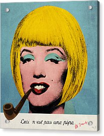Bob Marilyn  With Surreal Pipe Acrylic Print by Filippo B