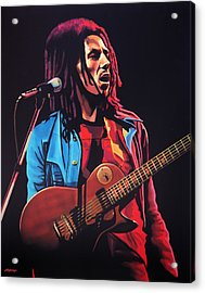 Bob Marley 2 Acrylic Print by Paul Meijering