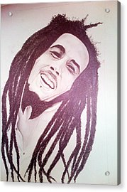 Bob Marley Acrylic Print by Aileen Carruthers
