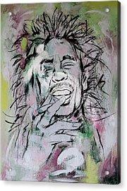 Bob Marley Art Painting Sketch Poster Acrylic Print by Kim Wang