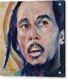 Bob Marley Acrylic Print by Brian Degnon