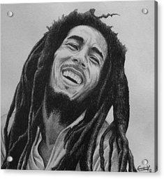 Bob Marley Acrylic Print by Carlos Velasquez Art