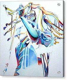 Bob Marley Colorful Acrylic Print by Joshua Morton
