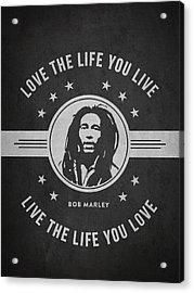 Bob Marley - Dark Acrylic Print by Aged Pixel
