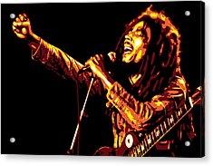 Bob Marley Acrylic Print by DB Artist