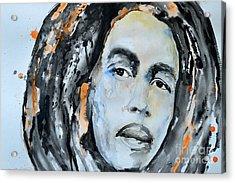 Bob Marley Acrylic Print by Ismeta Gruenwald