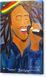 Bob Marley Jammin Acrylic Print