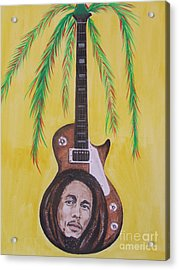 Acrylic Print featuring the painting Bob Marley by Jeepee Aero