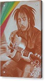 Bob Marley Acrylic Print by Miguel Rodriguez