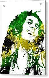 Bob Marley Acrylic Print by Mike Maher