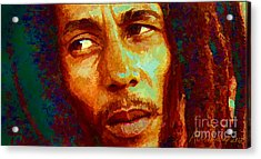 Bob Marley One And Only Acrylic Print by Alexandra Jordankova