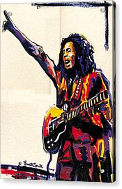 Bob Marley - One Love Acrylic Print by Everett Spruill
