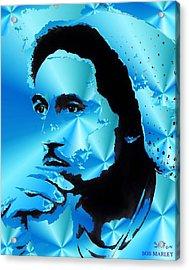 Bob Marley Portrait Acrylic Print by Stefon Marc Brown