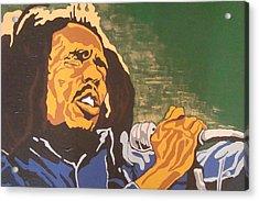 Acrylic Print featuring the painting Bob Marley by Rachel Natalie Rawlins