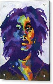 Bob Marley Acrylic Print by Stephen Anderson