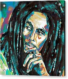 Bob Marley Watercolor Portrait.7 Acrylic Print