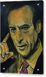 Acrylic Print featuring the drawing Bob Odenkirk - Better Call Saul by Eric Dee