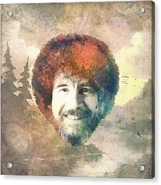 Bob Ross Acrylic Print by Filippo B