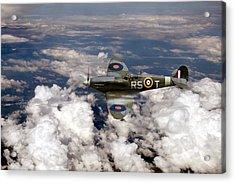 Bob Stanford Tuck's Spitfire Mk Vb Acrylic Print by Gary Eason