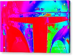 Boba Fett Helmet 12 Acrylic Print by Micah May