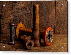 Bobbins And Spools Acrylic Print