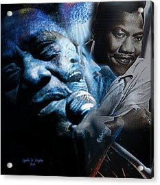 Bobby Blue Bland Acrylic Print by Lynda Payton