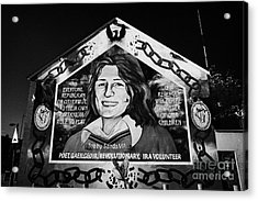 Bobby Sands Mural Belfast Acrylic Print by Joe Fox