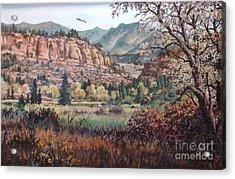 Bobcat Ridge Acrylic Print by W  Scott Fenton