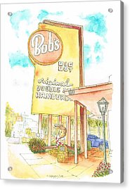 Bob's Big Boy In Burbank, California Acrylic Print by Carlos G Groppa