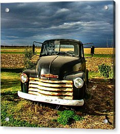 Bob's Old Chevy Truck Acrylic Print by Julie Dant