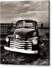Bob's Truck In Sepia Acrylic Print by Julie Dant