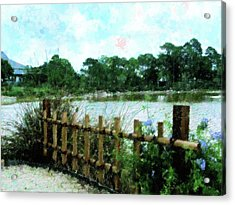 Boca Morikami Gardens Acrylic Print by Florene Welebny
