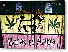 Bocas Es Amor Acrylic Print by John Rizzuto