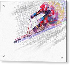 Bode Miller And Statistics Acrylic Print