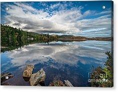 Bodgynydd Lake Acrylic Print by Adrian Evans