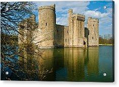 Bodiam Castle Acrylic Print by David Ross