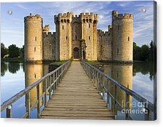 Bodiam Castle Acrylic Print by Derek Croucher