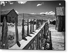 Bodie California Long Dusty Road Acrylic Print by LeeAnn McLaneGoetz McLaneGoetzStudioLLCcom