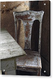 Bodie Chair And Table Acrylic Print by David Marr