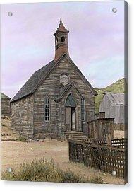 Bodie Church Acrylic Print by Mel Felix