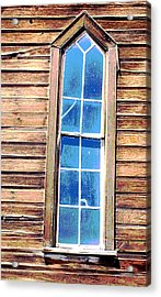 Acrylic Print featuring the photograph Bodie Church Window by Mary Bedy