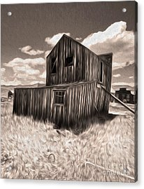 Bodie Ghost Town - Bent House 03 Acrylic Print by Gregory Dyer