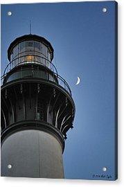 Bodie Island Lighthouse And Luna Acrylic Print