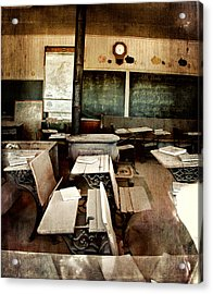 Bodie School Room Acrylic Print by Lana Trussell