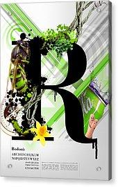 Bodoni R Acrylic Print