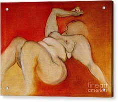 Acrylic Print featuring the painting Body Of A Woman by Carolyn Weltman