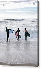 Bodyboarders Acrylic Print by Gustoimages/science Photo Library