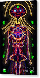 Acrylic Print featuring the digital art Bodywire by Devin  Cogger