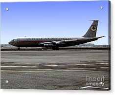 Boeing 707 American Airlines Freight Aal Acrylic Print by Wernher Krutein
