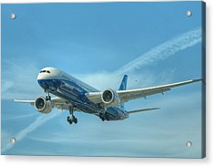Acrylic Print featuring the photograph Boeing 787-9 by Jeff Cook